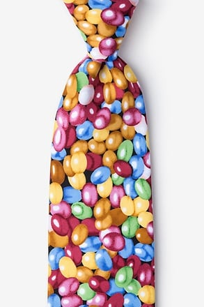 _Jelly Beans Microfiber Red Tie_