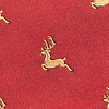 Red Microfiber Jumping Reindeer Self-Tie Bow Tie