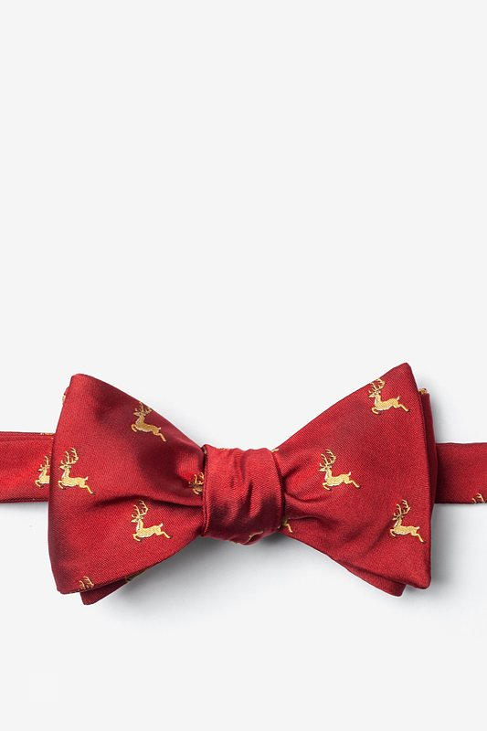 Jumping Reindeer Self-Tie Bow Tie Photo (0)