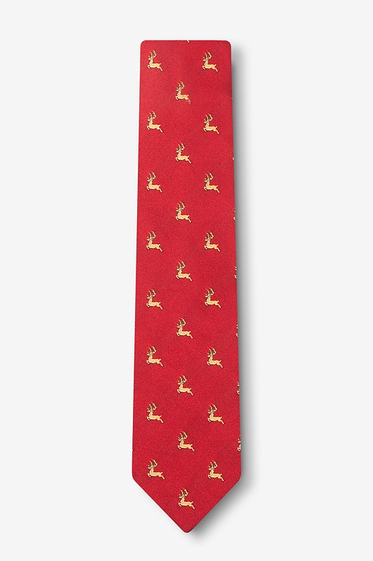 Jumping Reindeer Skinny Tie Photo (1)