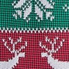 Red Microfiber Less Ugly Christmas Sweater Extra Long Tie