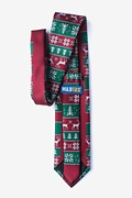 Less Ugly Christmas Sweater Red Extra Long Tie Photo (1)