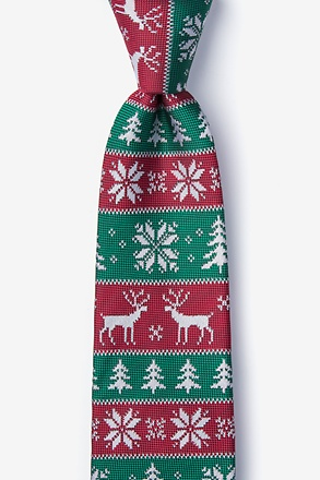 Less Ugly Christmas Sweater Red Tie