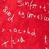 Red Microfiber Math Equations Extra Long Tie