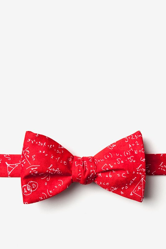 Math Equations Red Self-Tie Bow Tie