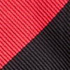 Red Microfiber Red & Black Stripe Bow Tie