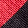 Red Microfiber Red & Black Stripe Self-Tie Bow Tie