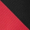 Red Microfiber Red & Black Stripe Skinny Tie