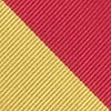 Red Microfiber Red & Gold Stripe Tie For Boys