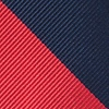 Red Microfiber Red & Navy Stripe
