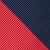 Red Microfiber Red & Navy Stripe Tie
