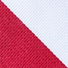 Red Microfiber Red & White Stripe Extra Long Tie