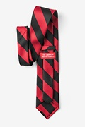 Red & Black Stripe Extra Long Tie