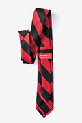 Red & Black Stripe Skinny Tie Photo (1)