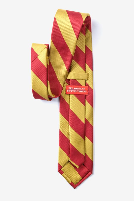 Red & Gold Stripe Extra Long Tie Photo (1)