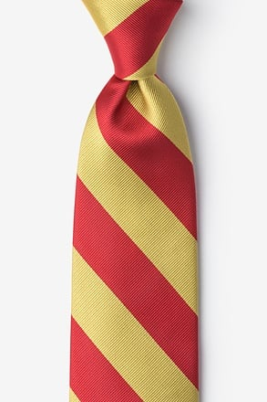 _Red & Gold Stripe Extra Long Tie_