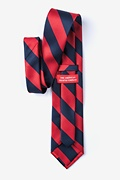 Red & Navy Stripe Extra Long Tie Photo (1)