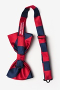 Red & Navy Stripe Pre-Tied Bow Tie Photo (1)
