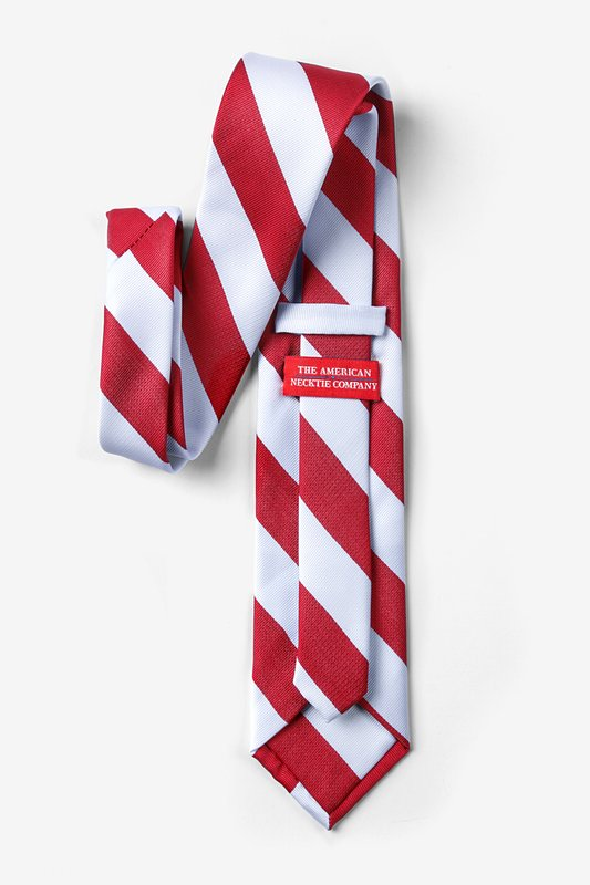 Red & White Stripe Extra Long Tie Photo (1)