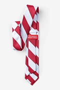 Red & White Stripe Tie For Boys Photo (1)