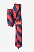 Red & Navy Stripe Skinny Tie