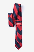 Red & Navy Stripe Tie For Boys
