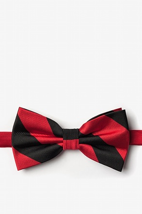 Red And Black Pre-Tied Bow Tie