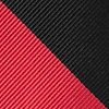 Red Microfiber Red And Black Stripe Extra Long Tie