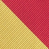 Red Microfiber Red And Gold Stripe Extra Long Tie