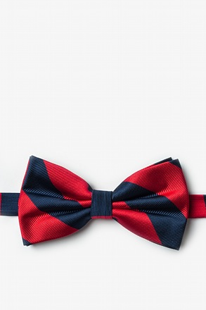 Red And Navy Pre-Tied Bow Tie