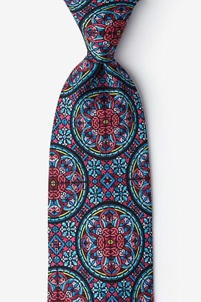 Stained Glass Extra Long Tie