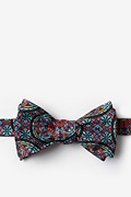 Red Microfiber Stained Glass Self-Tie Bow Tie