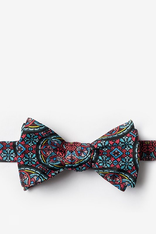 Stained Glass Red Self-Tie Bow Tie Photo (0)