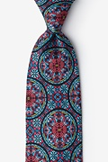 Red Microfiber Stained Glass Tie