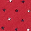 Red Microfiber Stars Extra Long Tie