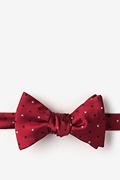 Red Microfiber Stars Self-Tie Bow Tie