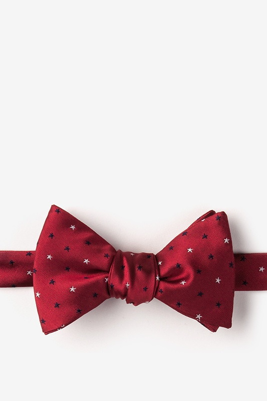 Stars Red Self-Tie Bow Tie