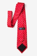 Tossed Hearts Red Extra Long Tie Photo (1)
