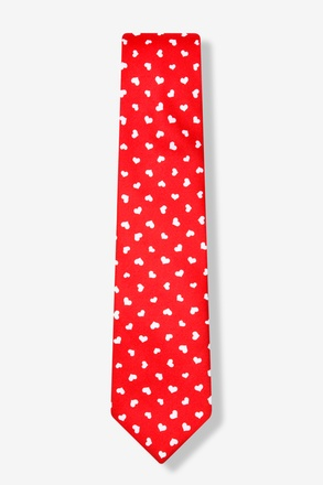 Tossed Hearts Red Skinny Tie