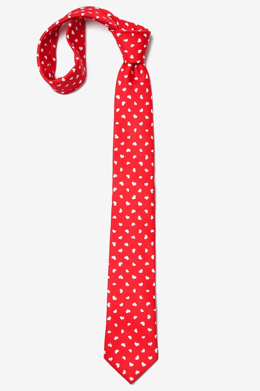Tossed Hearts Skinny Tie Photo (3)