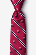 Red Microfiber Whales Extra Long Tie