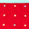 Red Orange Carded Cotton Long Beach Dots