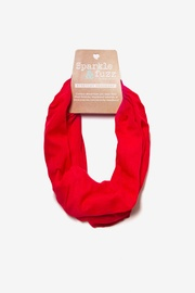 Red Polyester Basic Stretchy Headband