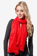 Red Polyester Marilyn Sparkle Scarf