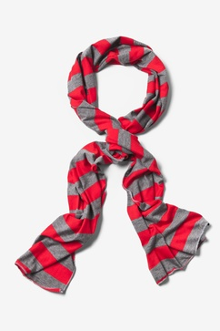 Mens Caravan Stripe Red Scarf