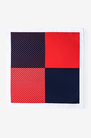 Miguel Red Pocket Square