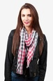 Red Polyester Party Check Scarf