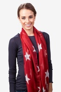 Rising Stars Red Infinity Scarf by Scarves.com