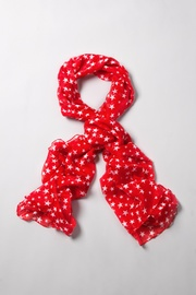 Red Polyester Starry Night Scarf