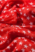 Starry Night Red Scarf by Scarves.com